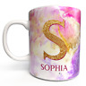 Personalised Marble Pattern Mug Add a name for unique custom gift cup Rose Gold