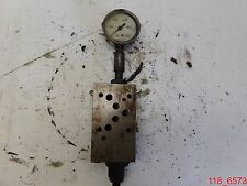 USED Parker PRM3PP07SNN 50 Manifold Relief Valve DP with Liquid Fillled Gauge