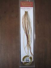 Fly Tying Whiting 100's Saddle Hackle Dark Barred Ginger sz#16