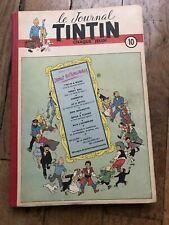 recueil reliure JOURNAL TINTIN 10 belge (1949) couv Hergé BD ancienne