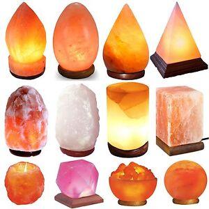 🔥 HIMALAYAN Pink Orange Salt Lamp NATURAL Rock With Plug Bulb Different Size