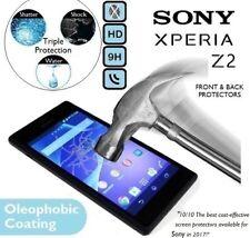 100% véritable verre trempé protecteur d'écran avant et arrière pour Sony Xperia Z2