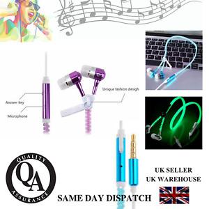 'Anti Tangle' Zip Up, Glow In The Dark Earphones For IPhone, IPad, Samsung etc