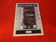 AMOK Sega Saturn Vidpro Promotional Display Card ONLY