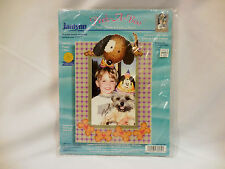 "Janlynn Peek-A-Boo Photo Frame Cross Stich #36-32  7"" x 10"" ©1999  USA"