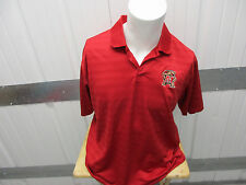 VINTAGE ADIDAS MARYLAND TERPS SEWN LARGE COLLAR POLO RED SHIRT PRE-OWNED