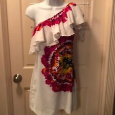 OFF WHITE RAMPAGE ONE SHOULDER DRESS SIZE SMALL EUC