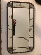 Vintage Gold Trim Mirror Rectangular Vanity Tray