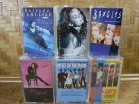 GO GO'S Cassette Tape Lot x 6 BLONDIE BELINDA BANGLES Greatest Hits Pop Rock