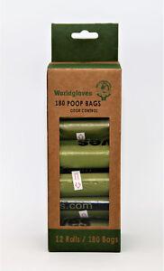 180 Stück Hundekotbeutel, biologisch abbaubare Tüten, Extra Stark, Auslaufsicher