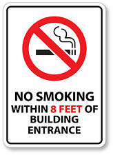 NO SMOKING 8 Feet Sticker Decal waterproof outdoor high quality White Background
