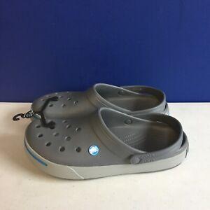 Crocs Men's 11989M Clog Slip-On Gray/Blue Size 11 M