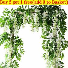 7FT Artificial Wisteria Vine Garland Plant Foliage Trailing Flower Home Decor Iv