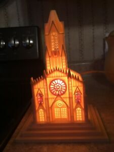 Vintage Raylite Christmas Electric Lighted Plastic Church St Mary's Alton