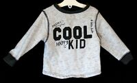 Baby Boys George Light Grey Fleck Awesome Cool Sweater Jumper  Age 12-18 Months