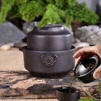 Portable tea set pot with infuser tea cup zisha kung fu teaset in China black