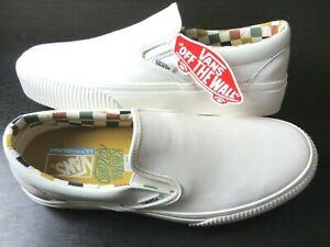 Vans Mens Slip On Platform Karina Rozunko Patent Marshmallow Shoes Size 9.5 NIB