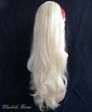 Light Blonde Long Wavy 3/4 Fall Wig  Half Wig Wig 060