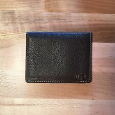 Personalized Genuine Leather Credit Card Wallet - Brown - Engraved In USA