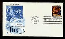 FIRST DAY COVER #1444 Christmas Trad Giorgione Shepherds 8c ARTCRAFT FDC 1971