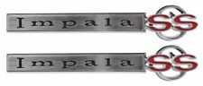 "1967 Chevrolet Chevy "" Impala SS "" Fender Emblems PAIR with Hardware USA Made"