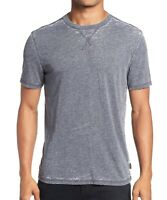 John Varvatos Star USA Men's Short Sleeve Jasper Burnout Crew T-Shirt Night Sky
