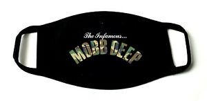 Mobb Deep Hip Hop Printed Re-Usable Cotton Face Mask Black