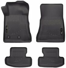 2015 2016 Mustang Husky WeatherBeater Front and Rear All Weather Floormats Black