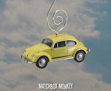Classic Yellow Footloose Volkswagen Beetle Christmas Ornament VW Bug Herbie 1/64