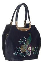 Banned - PEACOCK BAG - Embroidered Hand, Crossbody, Shoulder Bag