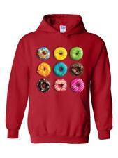 Love Food Donuts Doughnuts Match w Coffee & Wine Unisex Hoodies Sweater