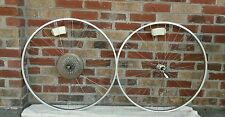 "Vintage Raleigh Araya 27"" Wheelset Stainless Spokes 36"" Sealed Bearings QR"