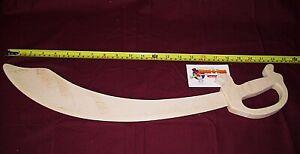 Wooden Toy - Pirate Sabre Sword.  Cutlass