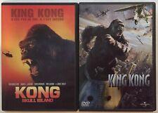 LOT 2 DVD - KONG SKULL ISLAND (2017) + KING KONG (2005 ) PETER JACKSON