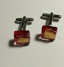 VINTAGE glass cufflinks