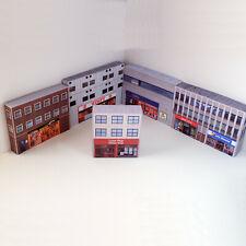 More details for 1/76 card oo gauge pack of 5 retro shop buildings (set 006)