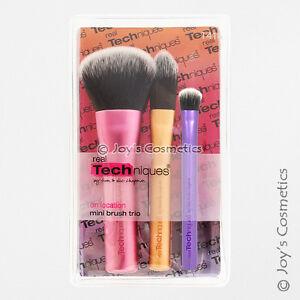 "1 REAL TECHNIQUES Mini Brush Trio Set ""RT-1416""   *Joy's cosmetics*"