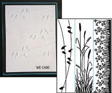 Nature embossing folder borders DARICE embossing folders 1218-81 birds cattails