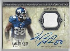 2012 Five Star Hakeem Nicks Auto Jersey 36/75 Giants
