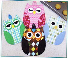 PATTERN - Hot Who - fun and easy Owl Hot Pads PATTERN - great for gifts
