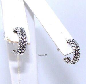 "John Hardy JAI BASKET-WEAVE Hoop Earrings  Sterling Silver 1/2""  NIB"