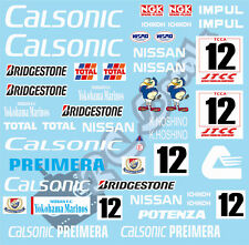 1/10 Touring Car Decal Set JTCC Nissan Primera Calsonic 1994 - Tamiya Schumacher