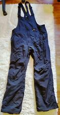 SLALOM Black Ski Snowboarding Pants w Bib Suspenders Men's Large MP927016