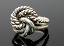 Sterling Silver Ring Size 4.5 European Superb Vintage Double Memory Knot