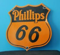 VINTAGE PHILLIPS 66 GASOLINE PORCELAIN GAS MOTOR OIL SERVICE STATION SHELF SIGN