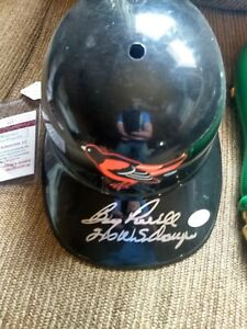boog powell autographed Orioles Helmet Jsa