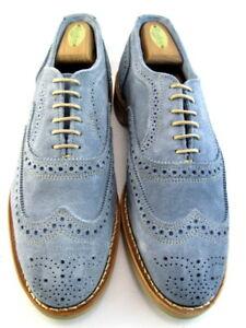 "NEW Allen Edmonds ""Neumok"" Men's Wingtip Oxfords 9.5 D Blue Suede  (493)"