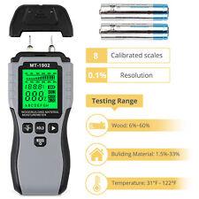 LCD Wood Moisture Meter Damp Detector Paper Building Humidity Tester Tool Aus