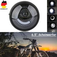 6,5'' Zoll Motorrad LED Scheinwerfer Birne kalte weiße Licht Universal Schwarz