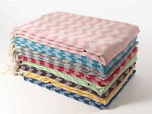 WAVES Turkish Towel Peshtemal Bath SPA Beach Hammam 100% Cotton